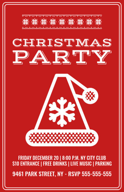 Christmas Flyer Maker for an Xmas Club Party 844