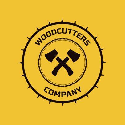 Carpentry Logo Maker for a Lumberjack 1548a