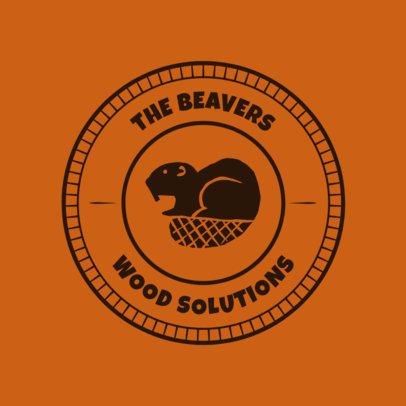 Carpenter Logo Maker with Beaver Graphic 1548e
