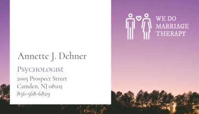 Business Card Maker for Marriage Therapists 193e
