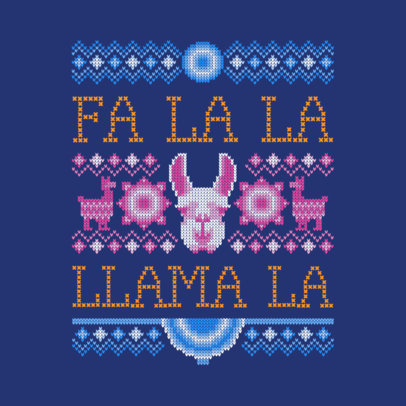 Cheerful Ugly Xmas Sweater Design Creator  652j