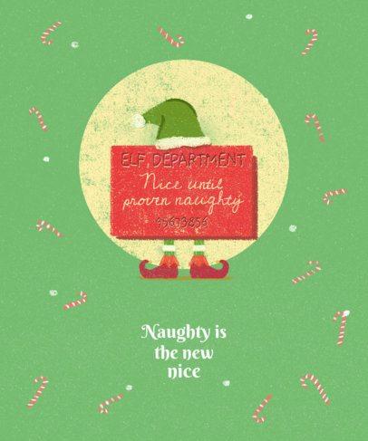 Christmas Tee Design Maker with Elf Graphics 837e