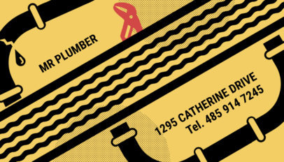 Plumbing and Heating Business Card Maker 662e