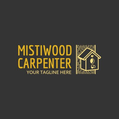 Carpenter Logo Template with Wood Graphics 1551c
