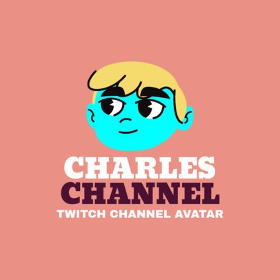 Gaming Character for Twitch Logo Maker 1464e