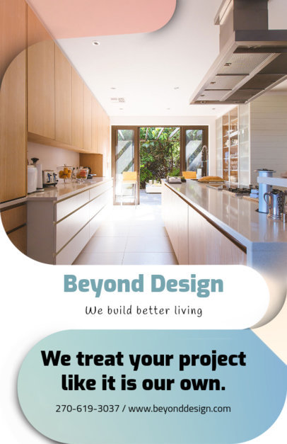 Flyer Template for a Home Design Company 732c
