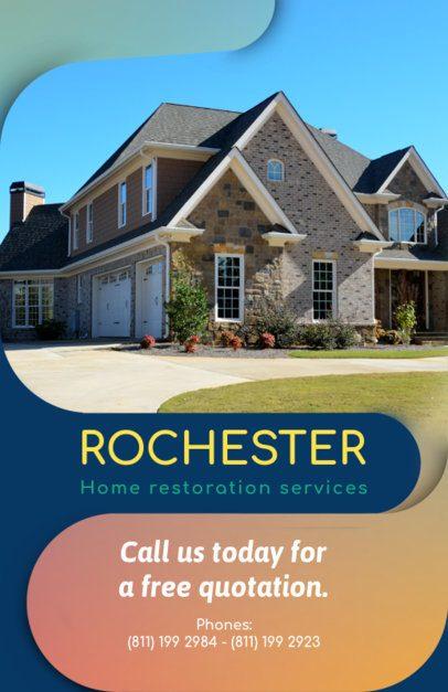 Home Restoration Flyer Template 732d