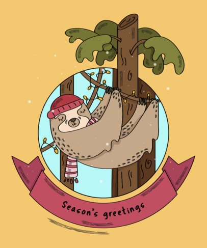 Christmas Tee Design Creator with Sloths 839c