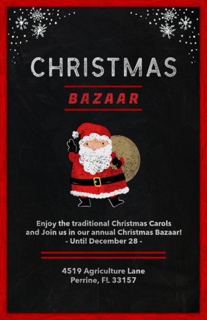 Holiday Flyer Template for a Christmas Bazaar 863b