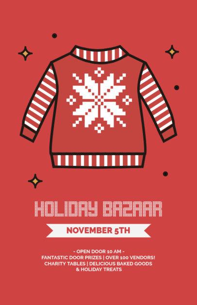 Xmas Flyer Maker for a Holiday Bazaar 861b