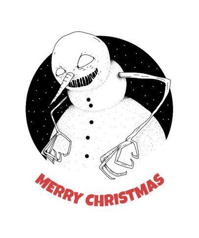 Christmas T-Shirt Design Maker with Evil Snowman 825d