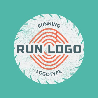 Running Logo Maker for a Running Club 1545b