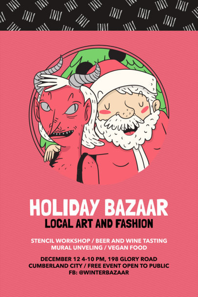 Ugly Xmas Flyer Maker for Holiday Bazaars 870