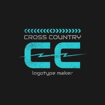 Cross Country Logo Design Creator 1565d