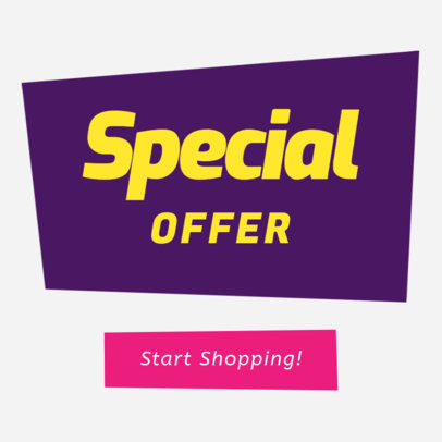 Banner Maker for Special Online Offers 284b