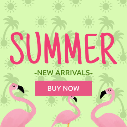 Summer's New Arrivals Online Banner Maker 282a