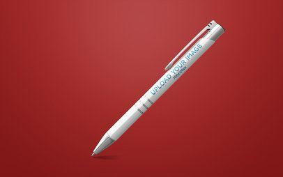 Pen Mockup Render Tilted over Plain Background 23478