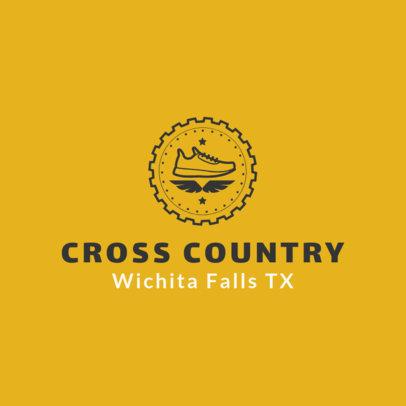 Cross Country Logo Creator with a Circular Frame 1566c