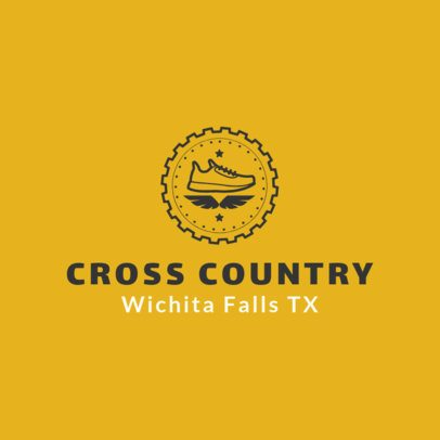Cross Country Logo Creator with a Circular Frame 1566c