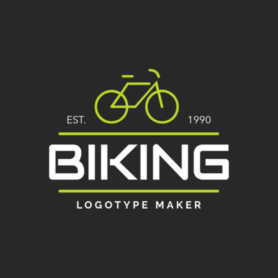 Biking Logo Maker 1572