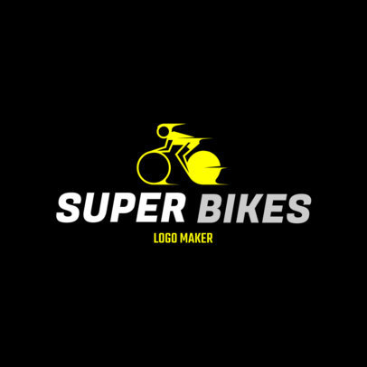 Biking Logo Maker for a Cycling Team 1573e
