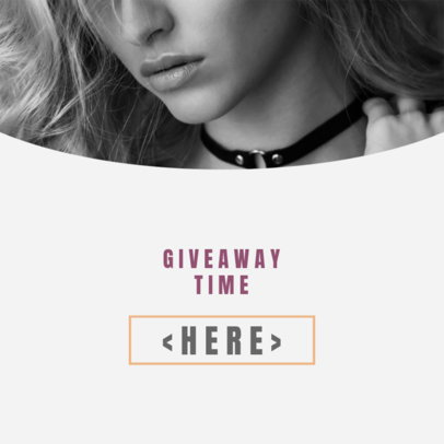 Giveaway Ad Banner for Clothing Brands 16616e