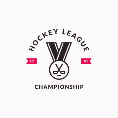 Hockey Logo Design Template for a Hockey League Championship 1563a