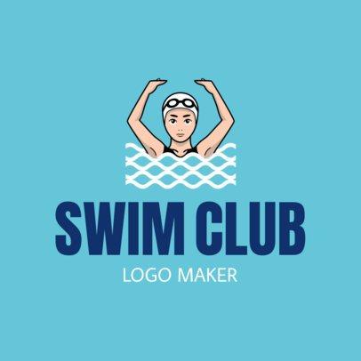 Swimming Logo Maker for a Swim Club 1576