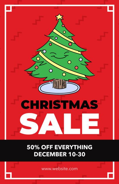 Holiday Flyer Maker for a Christmas Sale with Big Discounts 857