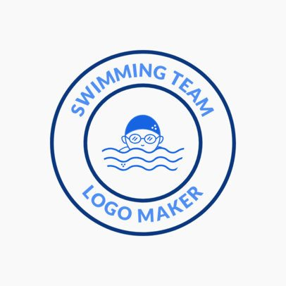 Swimming Team Logo Maker with Circular Badge 1577a