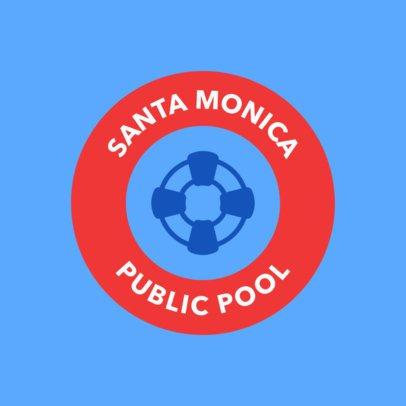 Swimming Logo Template for a Public Pool 1577e