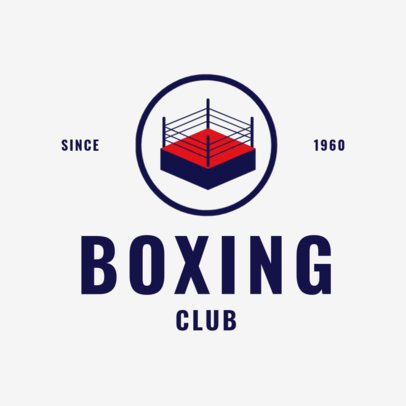 Box Logo Maker with a Boxing Ring Icon 1580