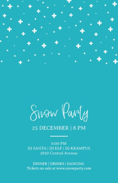 Snow Party Holiday Flyer Template   849d