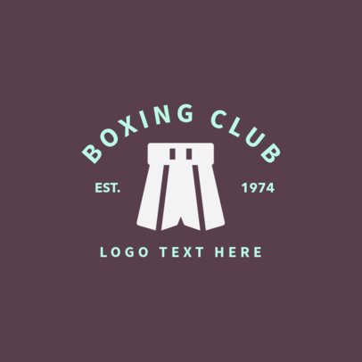 Boxing Logo Design Template with Boxing Trunks 1582d