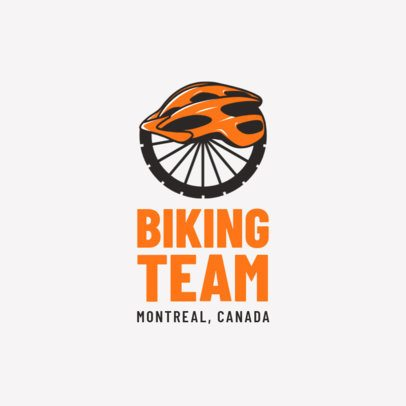 Cycling Logo Maker with Bicycle Wheel and Helmet 1571b