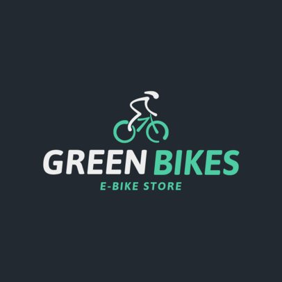 Cycling Logo Maker for an Eco-Bike Store 1571e