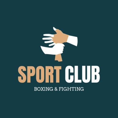 Box Logo Maker for Sport Club and Boxing Gyms 1583b