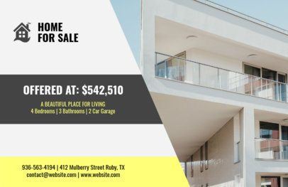 Fresh-Looking Real Estate Flyer Design Template 242e
