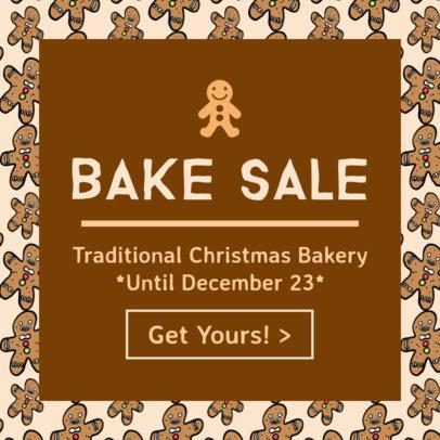 Christmas Bake Sale Ad Template 775c