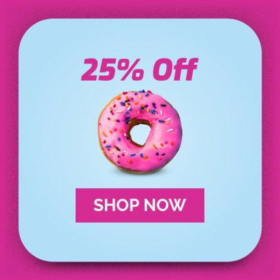 Ad Banner Maker for an Donut Shop 518 a