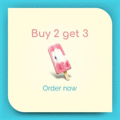 Banner Maker for an Ice Cream Sale 518b