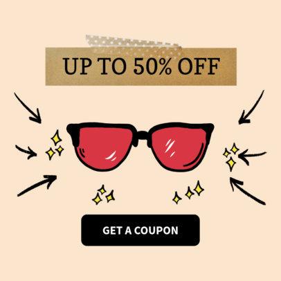 Online Banner Maker for Promotional Sunglasses 536c