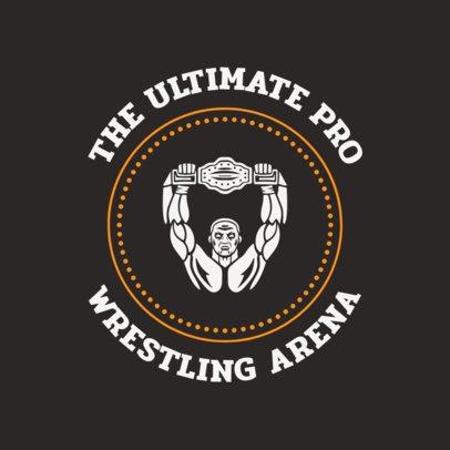 Wrestler Logo Maker for a Wrestling Arena 1541a