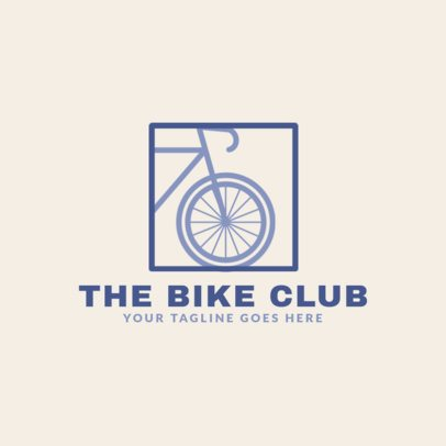 Bike Club Logo Generator for a Cycling Team 1574d