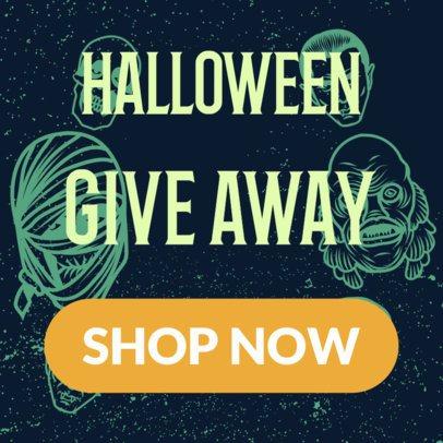 Cool Halloween Giveaway Banner Design Generator 288e