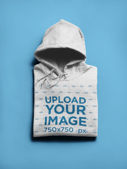 Flat Lay Mockup of a Neatly Folded Hoodie 24190