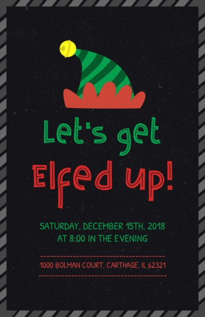 Christmas Party Flyer Template with Cool Slogan 843b