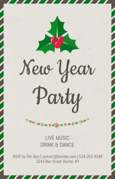 Holiday Flyer Maker for a New Year Party 843c