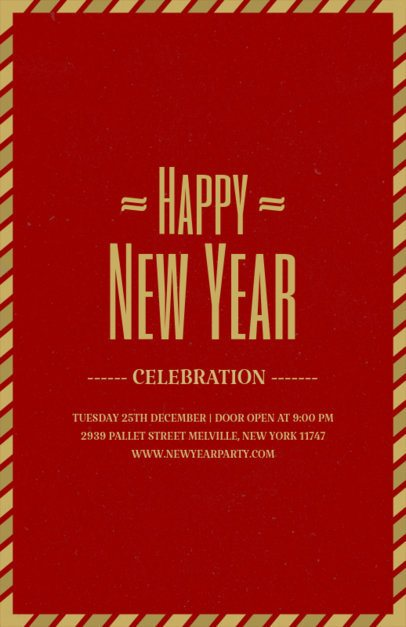 Holiday Flyer Template for New Year's Party 843e