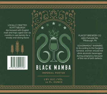 Beer Label Generator for Porter Beers 768d